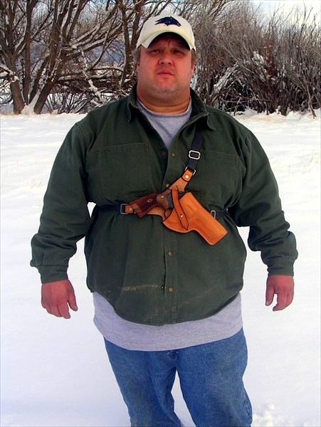 7x Leather Chest Holster Handgun Carry Made Comfortable